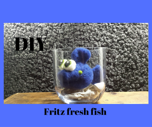 "Needelfelting supply pack ""Fritz fresh fish"", Wollset"