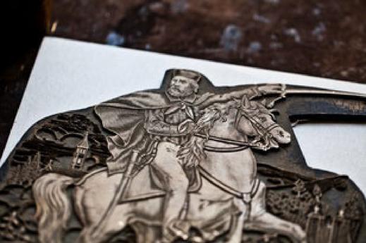 History - Conti Borbone - Giuseppe Garibaldi print cliché