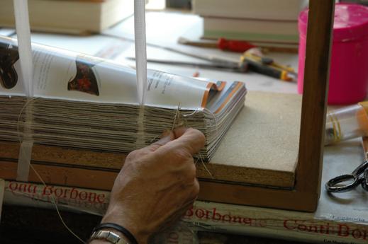 History - Conti Borbone - hand-stitched book