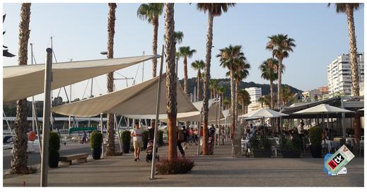 Gastronomía en el Muelle Uno del puerto de Málaga