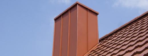 Bild zum Thema Kaminverwahrungen der Peter Fleschhut Spenglerei GmbH in 64658 Fürth, Odenwald