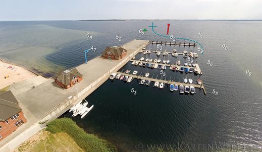Karte und Luftbild mit freundlicher Genehmigung der KartenWerft, Flensburg