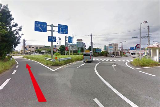 101 沖縄/石川インターチェンジ出口交差点