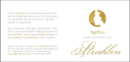 Folder Innenseite 1, Yoga4Face für die Braut, Renée Isermann