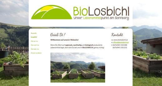 Webseite BioLOSBICHL