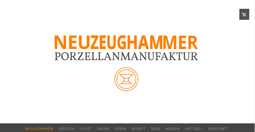 Webseite NEUZEUGHAMMER Keramik GmbH