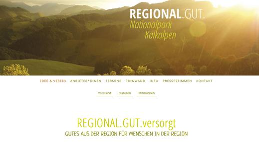 Webseite Verein Regional.gut. Nationalpark Kalkalpen