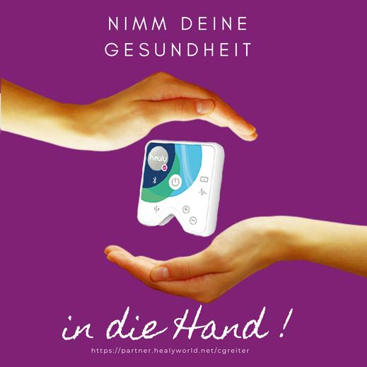 Healy Wearable - Gerät und App für Frequenzanalyse und -therapie