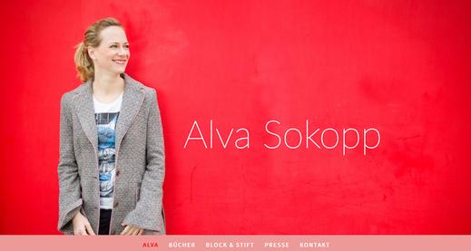 Webseite der österreichischen Autorin Alva Sokopp