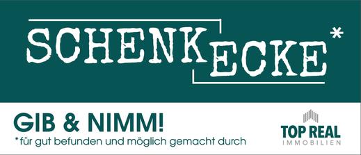 Schild Schenkhaus Steyr, gesponsert von Top Real Immobilien Steyr
