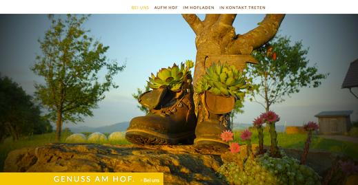 Webseite Familie Holzner, Genuss am Hof