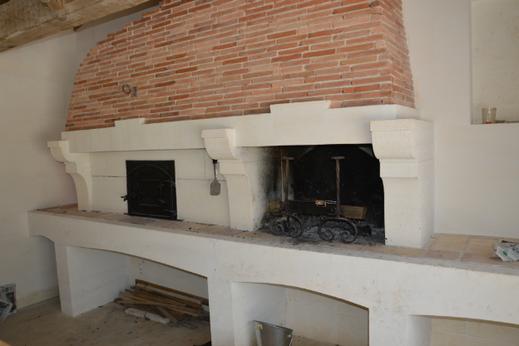 construction d'un barbecue et four à pain
