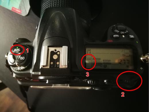 Wo finde ich in meiner Kamera RAW-Format Einstellungen?