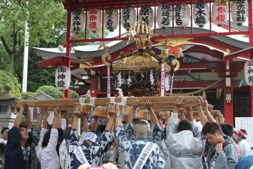 本社神輿, 連合神輿渡御,大崎,2018.8.26