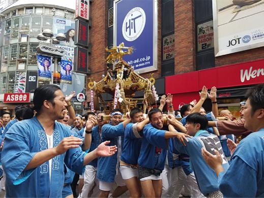 金王八幡宮例大祭,青山地区,渋谷地区,109