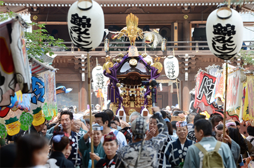 諏訪神社,立川, 連合神輿渡御,2018.8.26