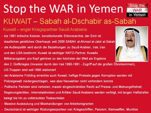 Kuwait, einer der wichtigsten Erdöl-Lieferanten und Rütsungsabnehmer der westlichen Welt und wichtiger NATO-Partner im Nahen Osten.