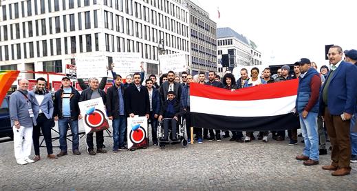 23.03.2019 - Berlin, Pariser Platz vor dem Brandenburger Tor - Kundgebung zum 4. Jahrestag der saudischen Aggression gegen Jemen