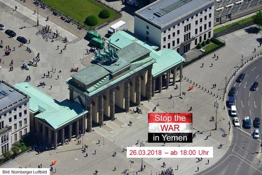 Bild: Nürnberger Luftbild - 26.03.2018 - Spezial-Mahnwache für den Frieden zum 3. Jahrestag Beginn des Krieges Saudi Arabien un Kriegskoalition gegen Jemen