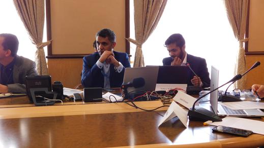 41. reguläre Sitzung des UN-Menschenrechtsrates - rechts Yahya Al-Sharafi - Aktivist bei INSAN - Organisation für Frieden und Menschenrechte