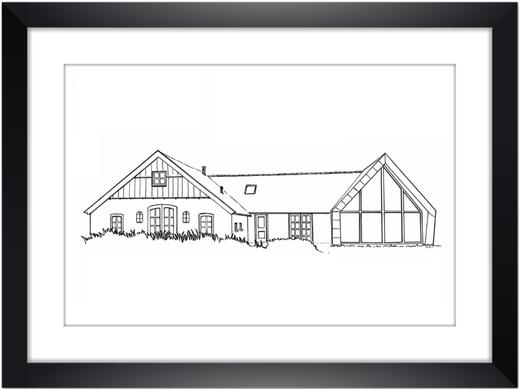Huisportret  Potlood en Pen