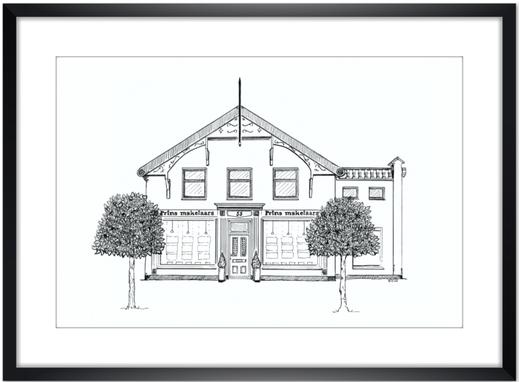 huisportret makelaar Potlood en Pen Erna Sinnige