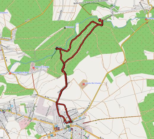 """GPS-Track: 6 km Wanderung """"Fischbauchträgerbrücke"""" gucken"""