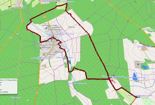 GPX-Track 9 km Wanderung auf dem Wasser-Erlebnispfad