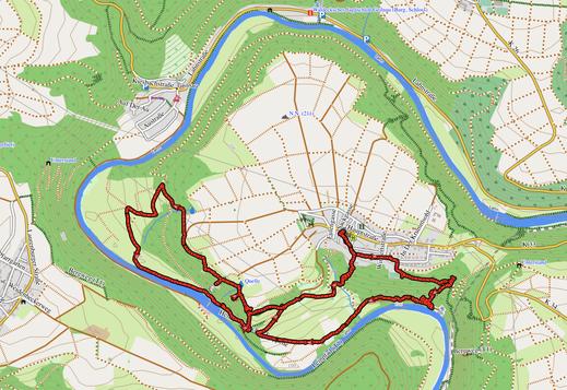 """GPX-Track 9 km """"Layen-Hopping""""* und die Heinzelmännchen Treppe"""
