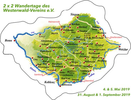 2 x 2 Wandertage des Westerwald-Vereins e.V.
