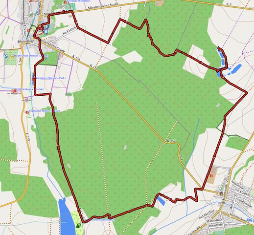 GPX-Track 11 km Rund um Rossbach und den Marother Waldsee