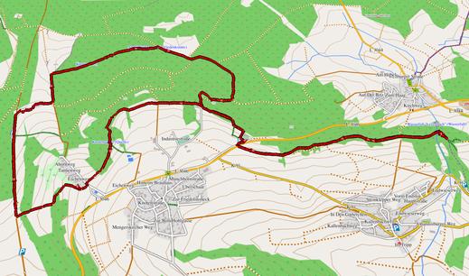 GPX-Track 13 km Eisige Aussichten - Wanderung zum Knoten & zum größtem Wasserfall im WW
