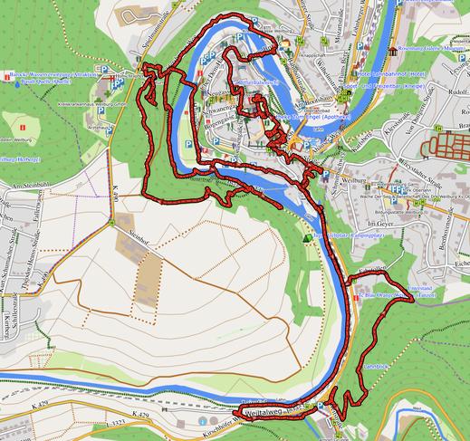 GPX-Track 12 km Geopfad Weilburg, Schlossgärten, historischer Friedhof und tolle Aussichten