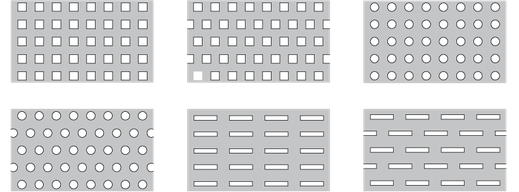 Standardlochungen