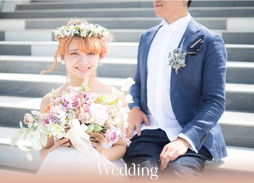 プリザーブドフラワーで出来た結婚式のウェデングブーケ