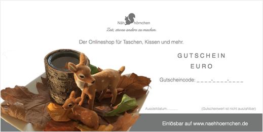 """Geschenkgutschein - Motiv """"Rehe"""", 10 € - 75 €"""