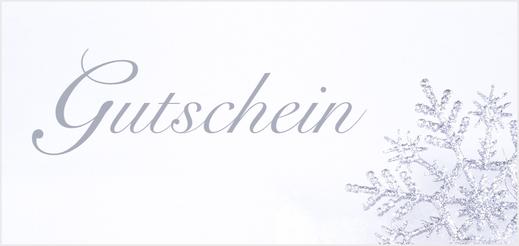 """Geschenkgutschein - Motiv """"Schneeflocke"""", 10 € - 75 €"""