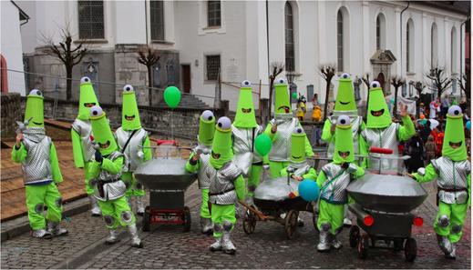 Mars-Mänchen-Invasion:  Karneval Kostüme