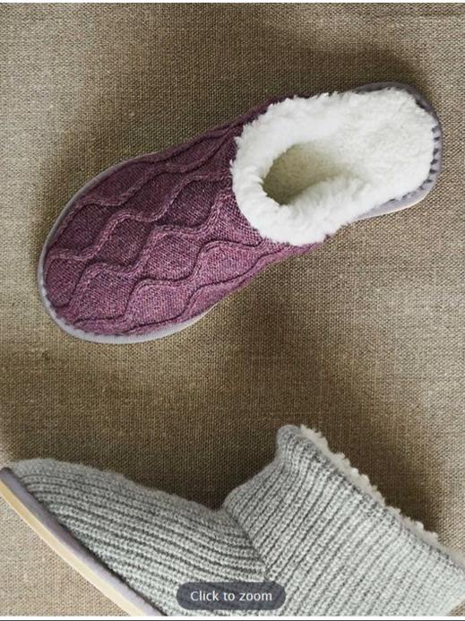 Knitted Sheepskin Slippers