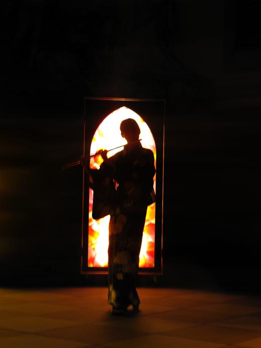 #SylvieLander - vitraux nomades- Kaori Wakabayashi, flute-Nuit de Lumiere-Eglise Saint-Thomas / Strasbourg