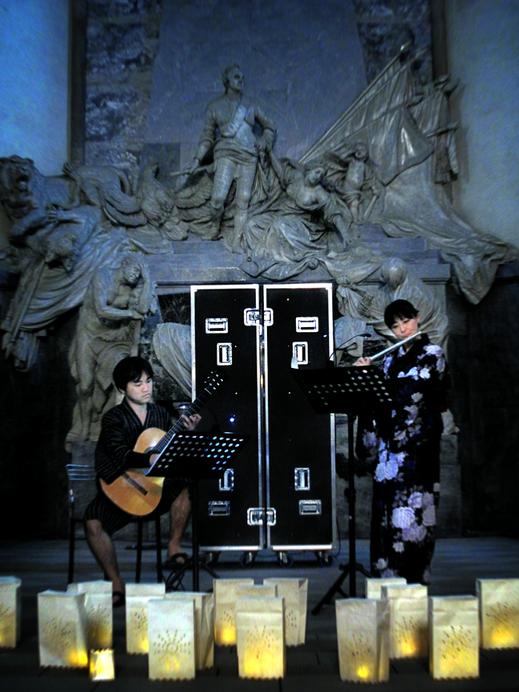 #SylvieLander - Kaori Wakabayashi, flute-Hiroshi Kogure, guitare-Nuit de Lumiere-Eglise Saint-Thomas / Strasbourg