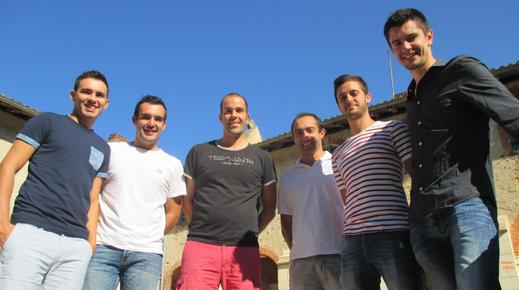 La fine équipe au grand complet : Jérémy, Cyril, Nicolas, Hervé, Damien et Kévin (photo Média40500)