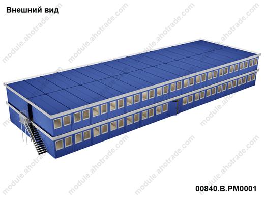 Двухэтажное модульное здание Containex