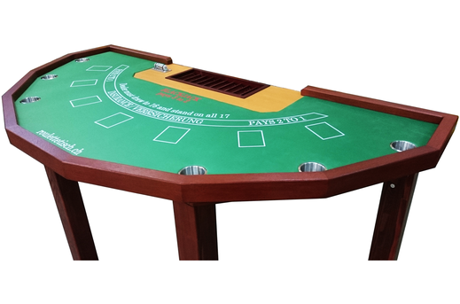 Black Jack Tisch mieten Premium Set - roulettetisch.ch