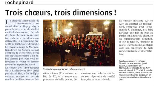 Concert du 02 février 2019 à la chapelle Bretonneau Tours