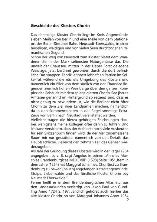 Geschichte Zisterzienserkloster Chorin Brandenburg