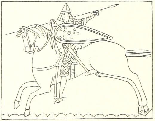 Historisches Bildnis eines normannischen Reiters