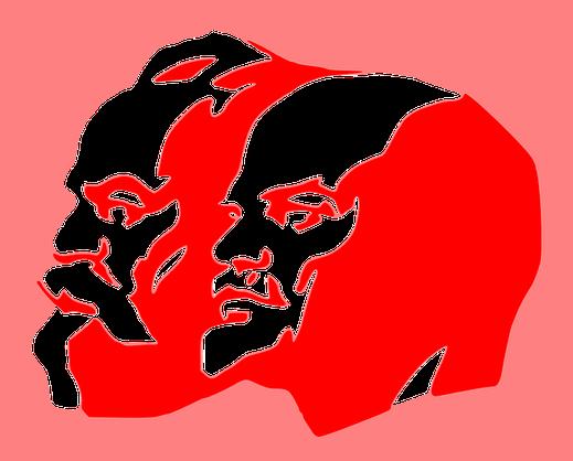 Beeld van Marx en Lening (bron: Pixabay)
