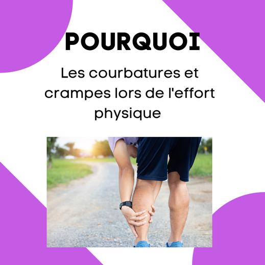 douleurs types courbatures ou crampes après le sport ou effort physique, douleurs dans les jambes, soignées par l'ostéopathie à Voiron