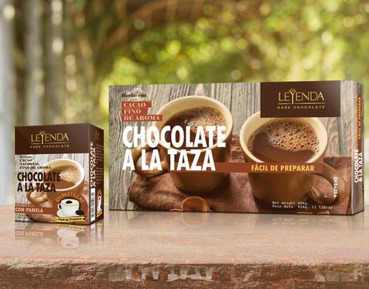 Chocolate a la taza, presentaciones en 14 Patillas  y en Barra 1 Libra